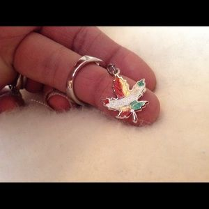 Jewelry - Sterling Silver Enameled Canada Charm ! Beautiful